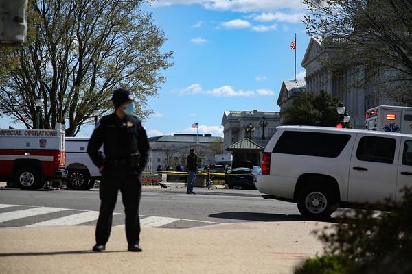 Crime scene at U.S. Capitol