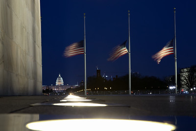 Flags at half-staff at Washington Monument for Covid-19 'Day of Rememberance'