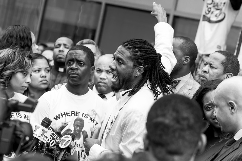 Constance Malcolm, Frank Graham, Jumaane Williams, Bronx Courthouse, August 2013