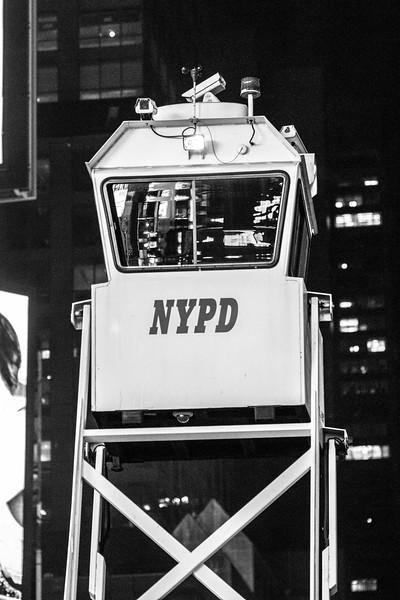 Police Surveillance Tower Times Square