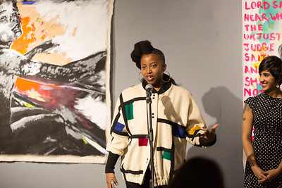 Painter Sophia Dawson at the Litmus Publishing Celebration 2017