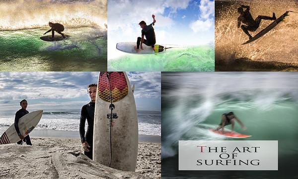 surfing collage
