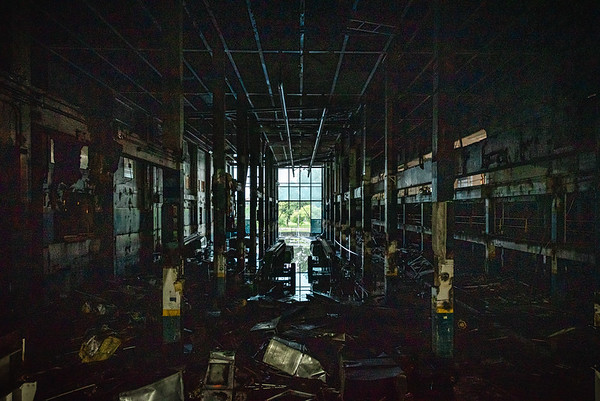 Interior of The Boston Globe's Dorchester Headquarters. August 2018.