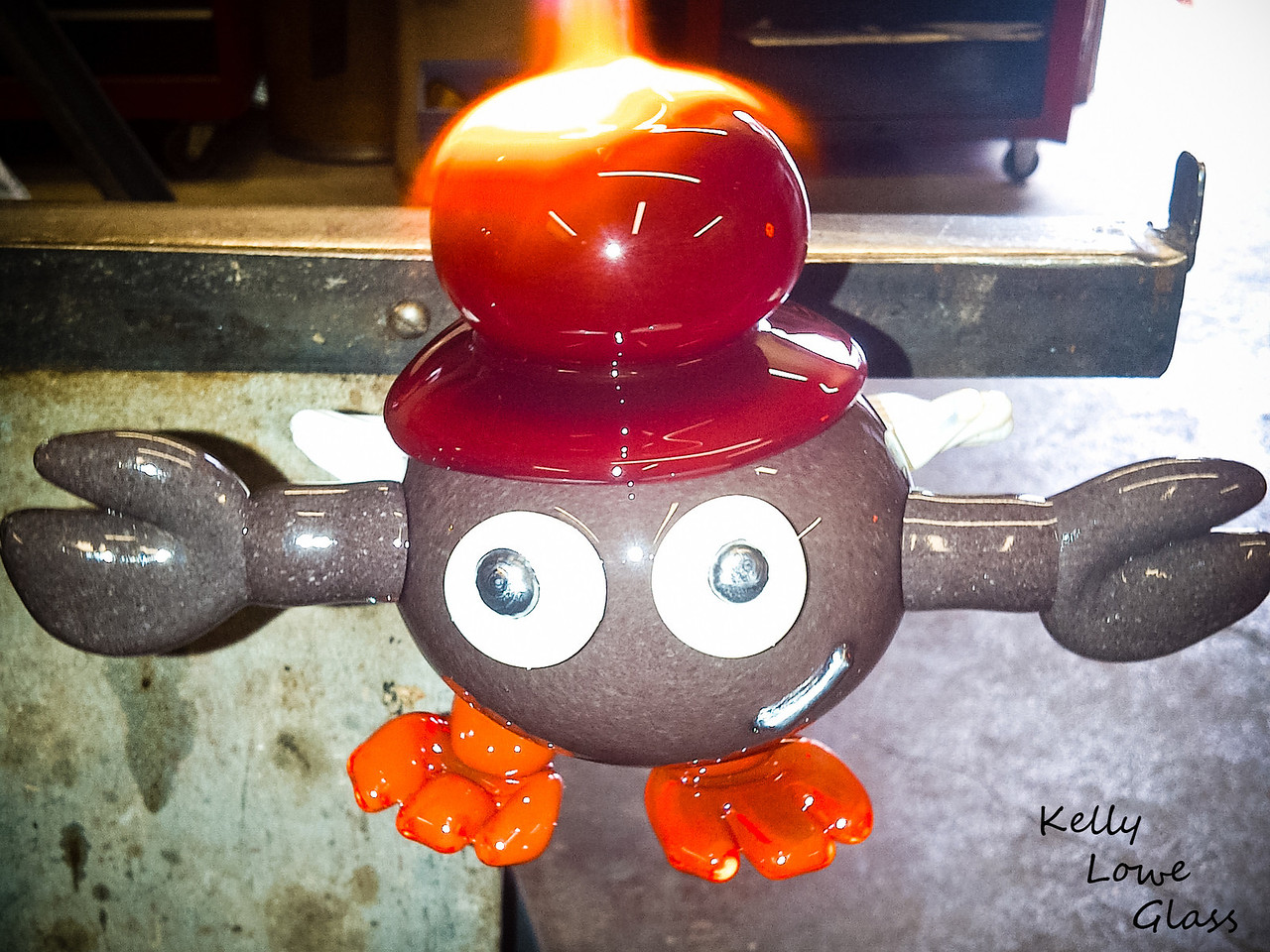 Dustacean<br /> <br /> Kelly Lowe Glass<br /> <br /> Glass blowing