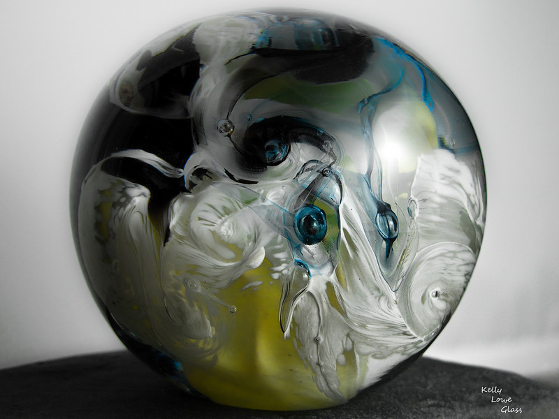 Glass Paperweight<br /> <br /> Kelly Lowe Glass