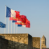 Flags Above Caen Castle
