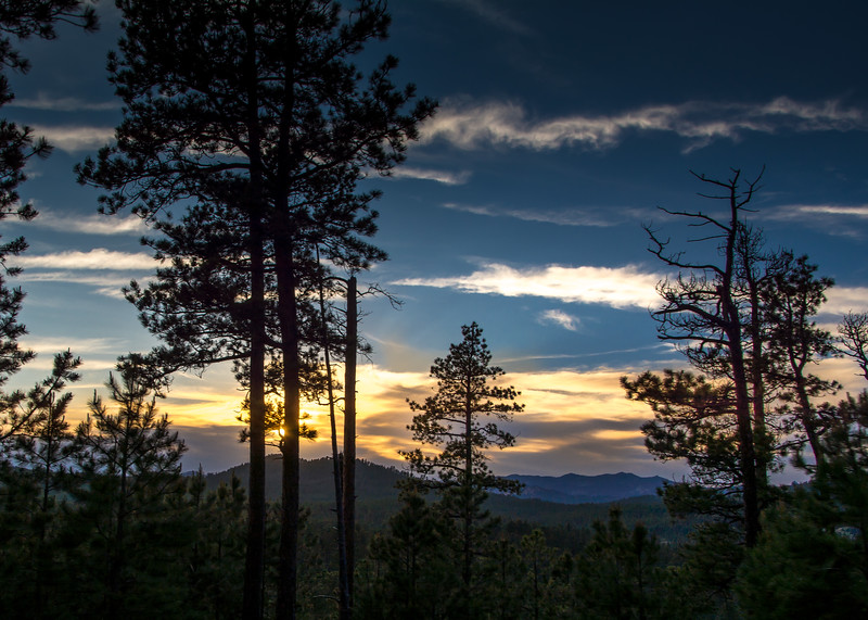 Sunset in Custer State Park, SD