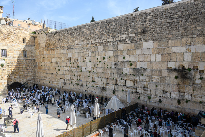 Wailing Wall from above