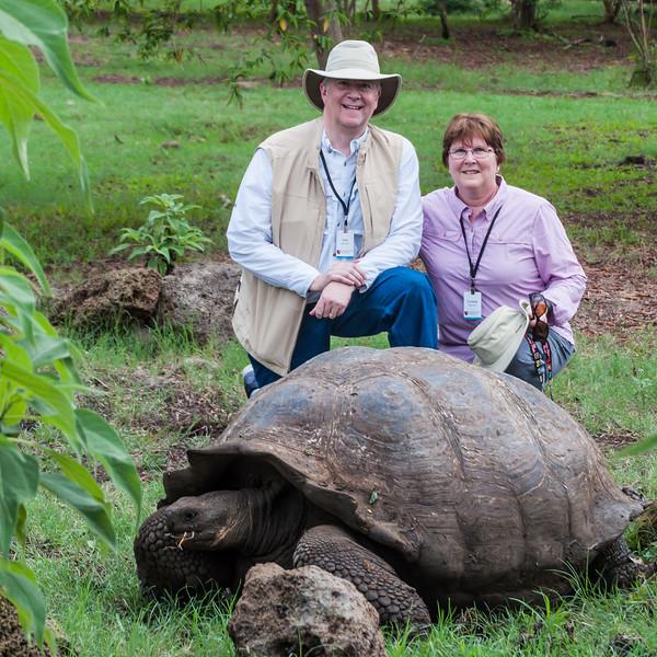 Tortoise Poses with Joe and Linda