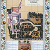 Map of the Church of Elona done on tile.