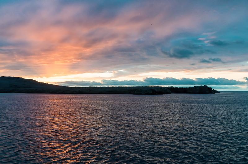 Sunset Over Espanola Island