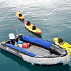 Isabela II panga and kayaks