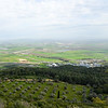 The field of Megiddo (Armageddon) as seen from Mt. Carmel.