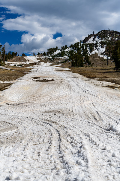 Ski conditions are a bit rocky...understandable as it was June 1st..