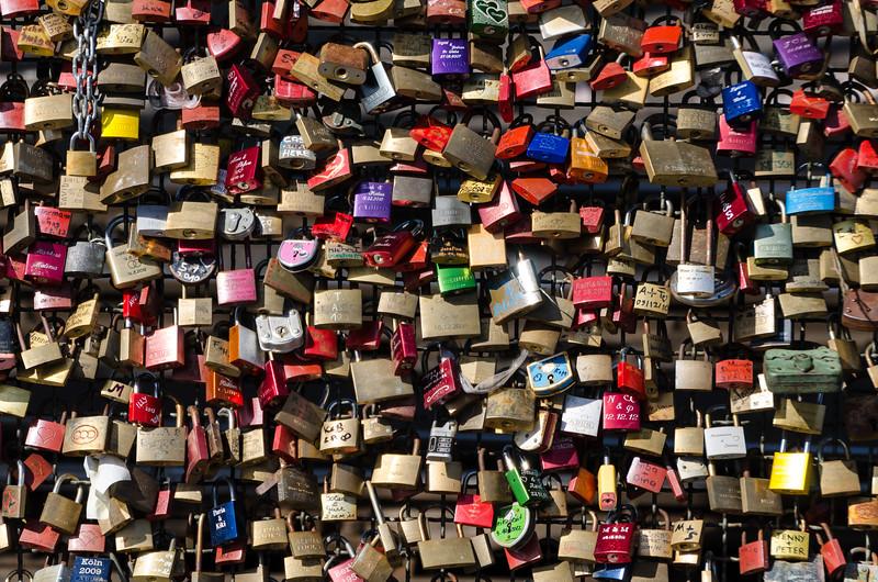 Love Locks on the Rhine