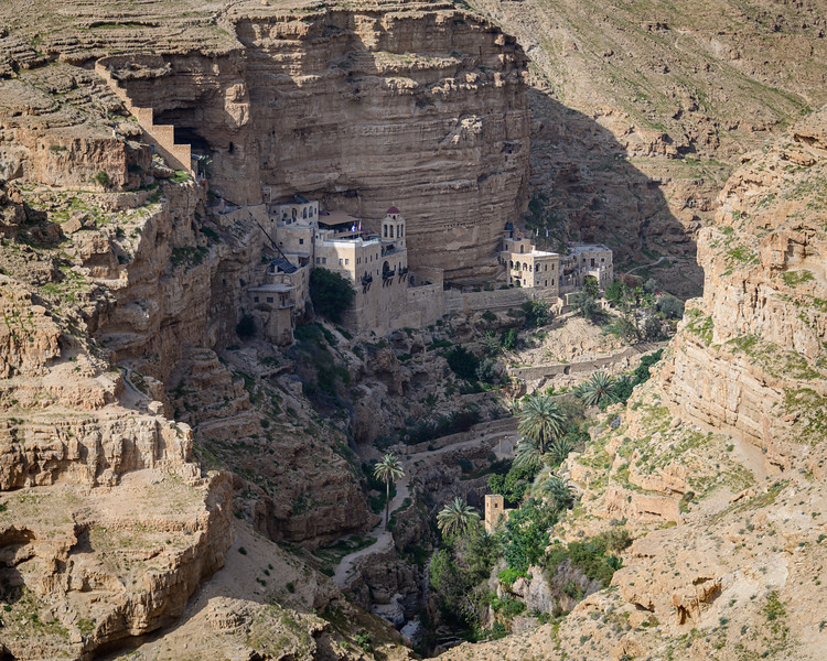 St. George Monastery clinging to the cliffs in what we believed to be the Valley of the Shadow of Death.