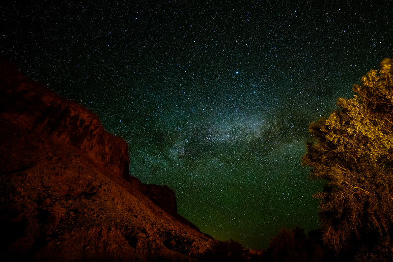 Milky Way From Back Porch of Red Cliffs Lodge