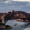 Sunset on Sydney Harbour Bridge