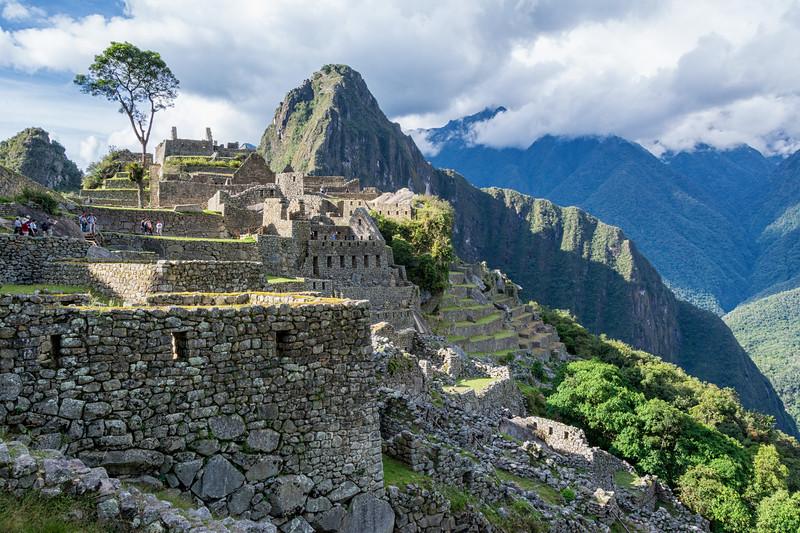 Huayna Picchu Seen Over Ruins of Machu Picchu
