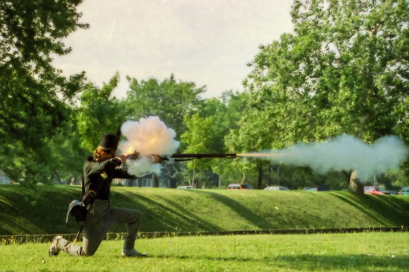 American Infantry Reenactor at Niagra Fort