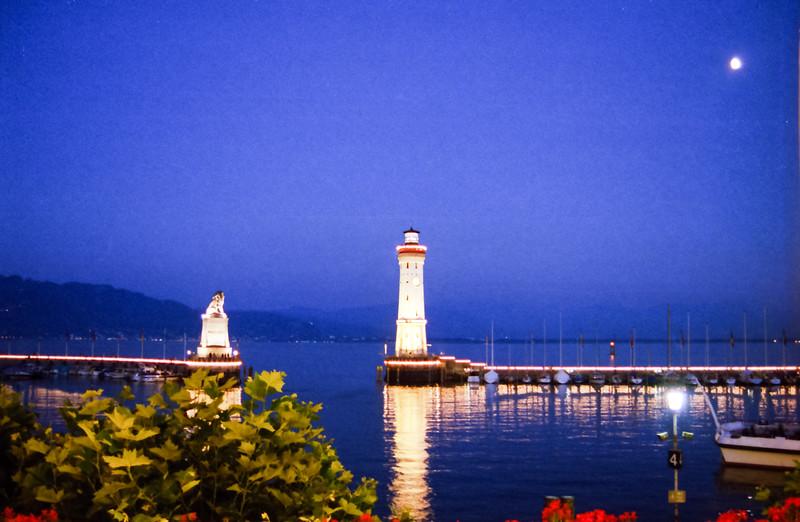 Lindau Lighthouse at Night