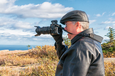 Joe Shooting from Top of Cadillac Mountain