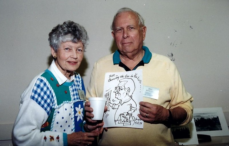 Kay and Bill Stoffel. Both past presidents, Kay in 2001 and Bill in 1987. Bill was also co-founder of the club with Louise Ellison. Photo taken 1999-2000.