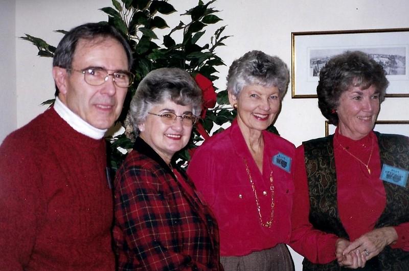 I to r: Bill Matthews, Linda Infantry, Kay Stoffel, Joan Herrmann.Photo taken 1999-2000.
