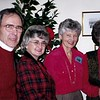 I to r: Bill Matthews, Linda Infantry, Kay Stoffel, Joan Herrmann.Photo taken 1999-2000.
