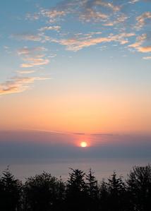 Sunrise West Somerset coast