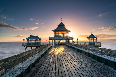 Cleevdon Pier Sunset