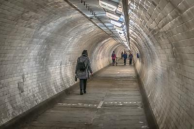 The Greenwich Tunnel.