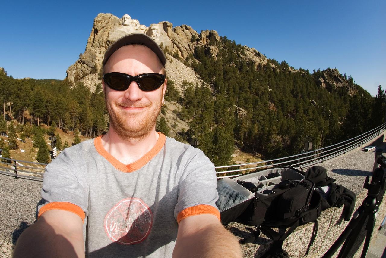 Goofing around at Rushmore