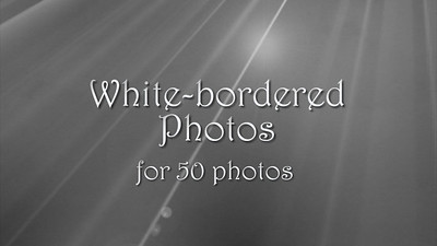 50 white bordered photos