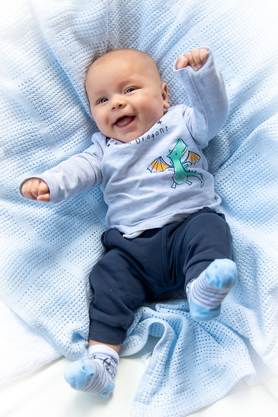 4 month old baby laughing