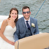 The Bride and Groom sail on Lake Garda