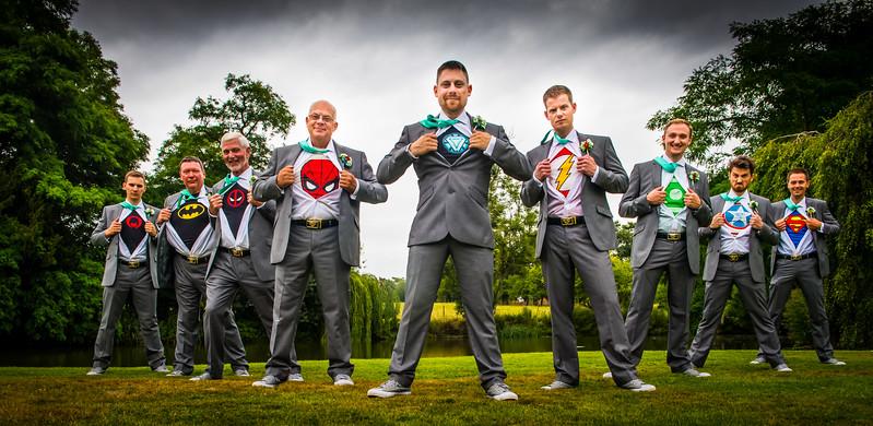 Creative Superhero wedding