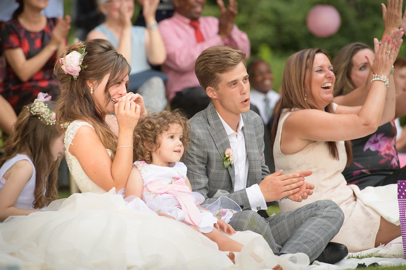 mixed emotions during the bride father's speech