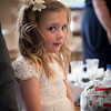 shy little girl at a wedding