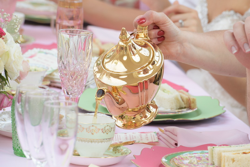 afternoon tea wedding reception