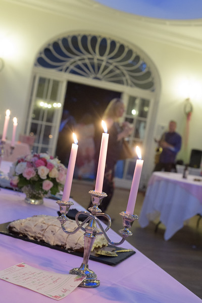 wedding reception candles and details