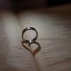 The wedding ring heart