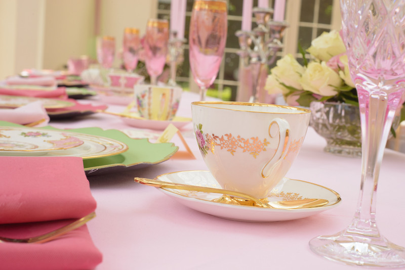 lovely china for a wedding afternoon tea