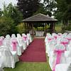 an outdoor wedding setting