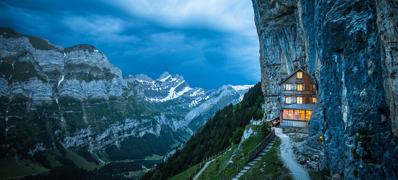Gasthaus Aescher Mountaintop Restaurant and Inn, Switzerland