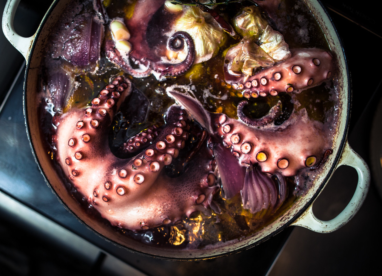 Braised Octopus at Prune Restaurant in New York City