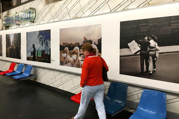 An older women in the metro, Paris France