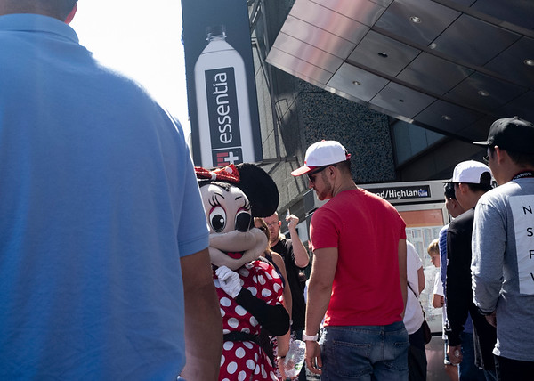 Minnie Mouse on Hollywood Blvd.
