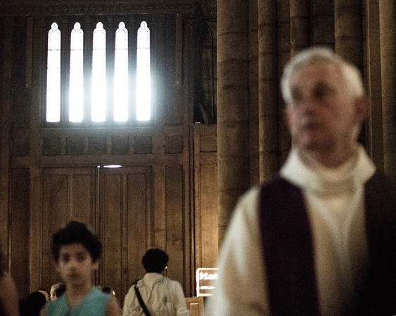 A father, A son and  the holy ghost, inside Notre-Dame Cathedral