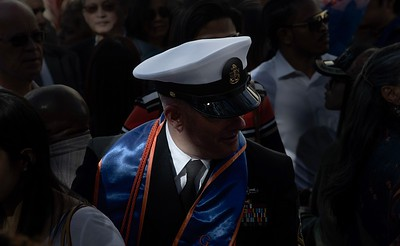 Naval Officer at a graduation.